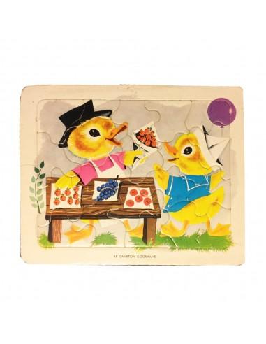 puzzle playschool vintage canard