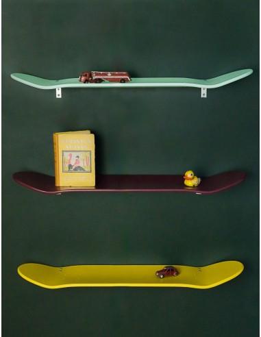 Etagères skateboard bordeau murale leçons de Choses