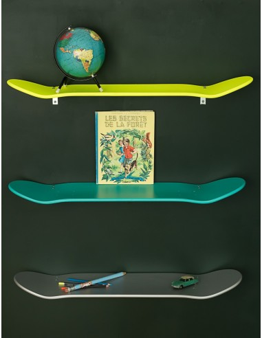 Etagères skate board murale argent