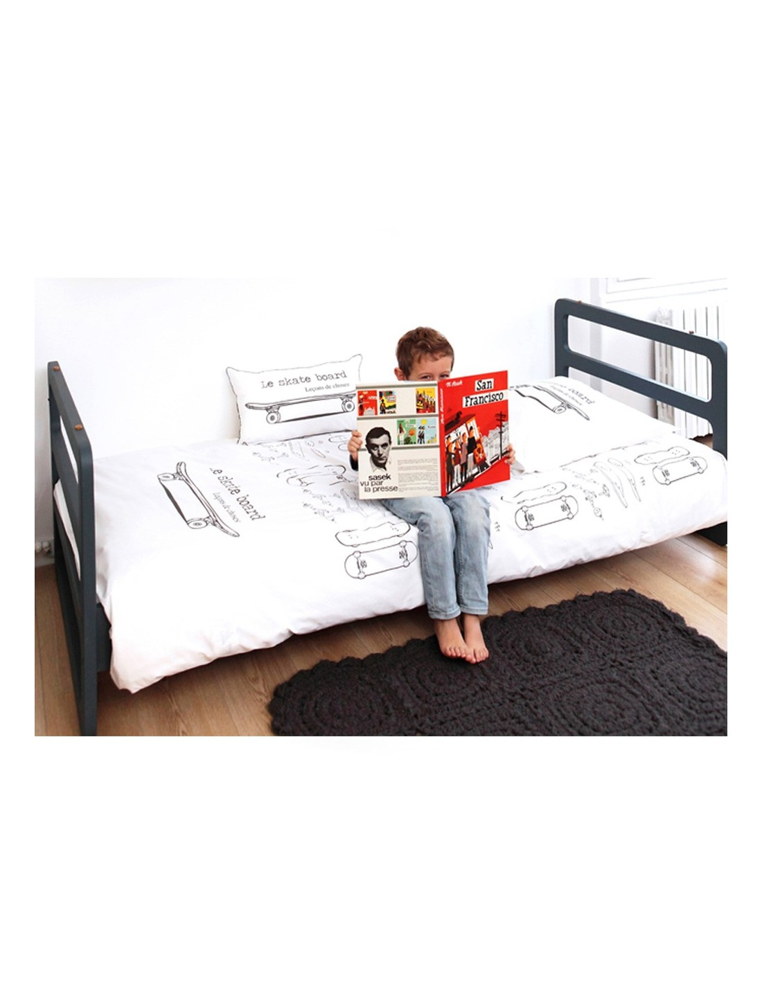 linge de lit skate board le ons de choses. Black Bedroom Furniture Sets. Home Design Ideas