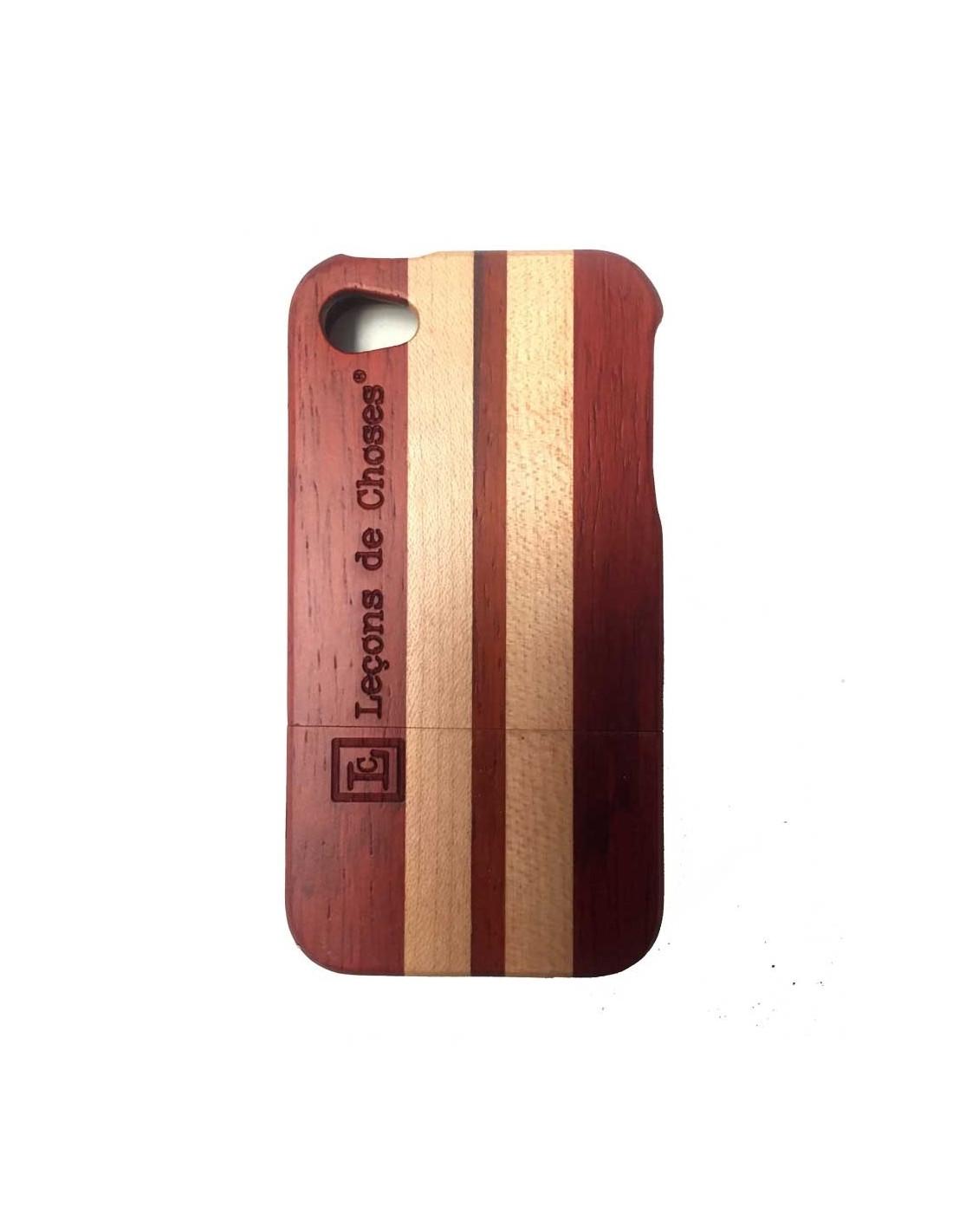 Case i phone 5 ou 6 en bois de skate board bicolore for Case en bois
