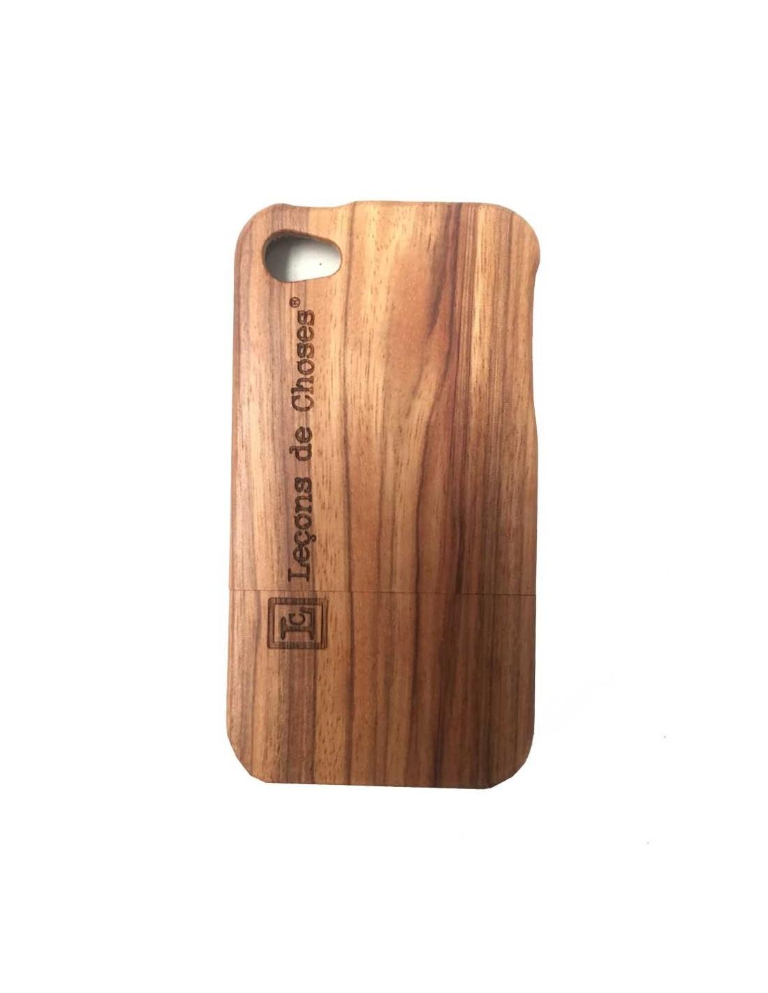 Case i phone 5 ou 6 en bois de skate board bois clair for Case en bois