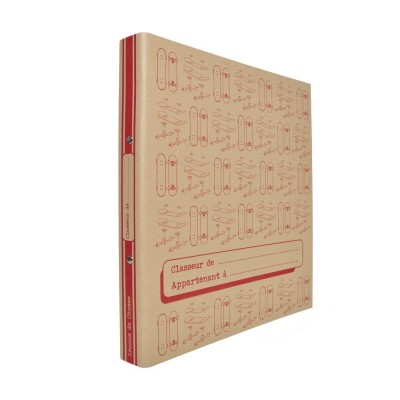 CAHIER VINTAGE ROUGE GRAND FORMAT