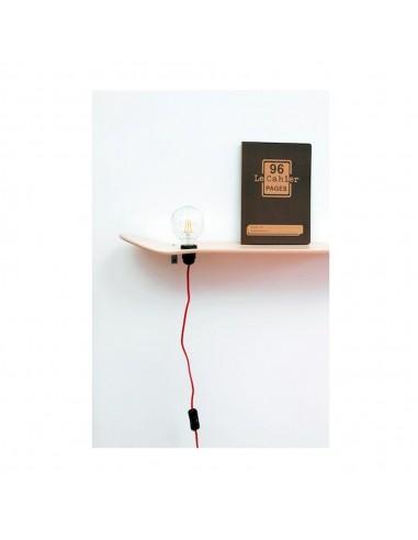 Etagère lampe skate board rose fluo