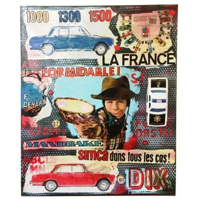 Tableau voiture engfant vintage