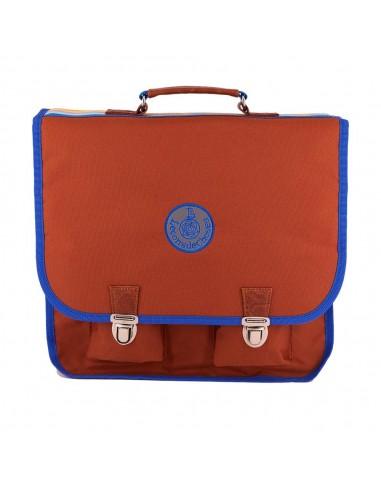 cartable brun et bleu roi cp ce1 ultra léger
