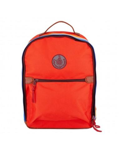 sac à dos rouge bande arc en ciel enfant