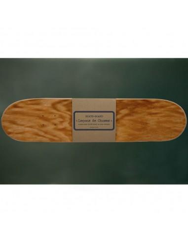 étagère skate board orange brun bois
