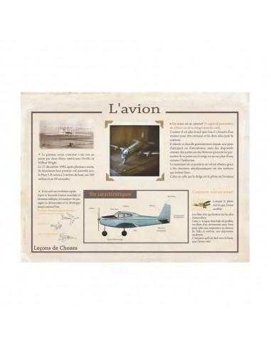 Poster Avion vintage Leçons de choses