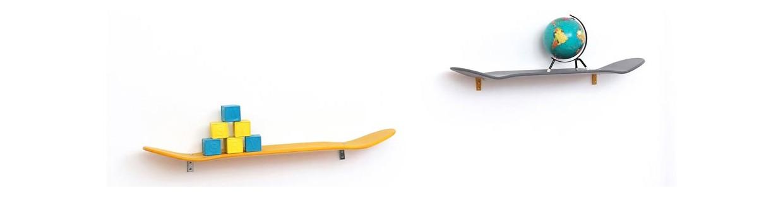 Etagère skateboard leçons de choses